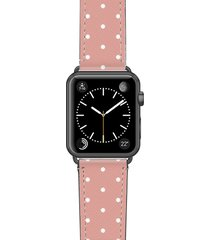 women's casetify polka dots saffiano faux leather apple watch strap