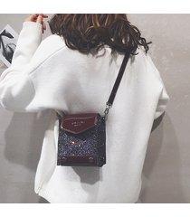 spalla paillette in ecopelle donna borsa tracolla borsa