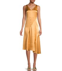 vince women's asymmetrial silk dress - sky graphic - size xxs