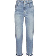7 for all mankind malia luxe cropped jeans