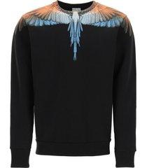marcelo burlon wings print crew neck sweatshirt