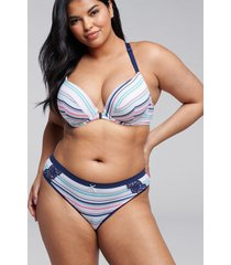 lane bryant women's cotton thong panty 14/16 soft stripes