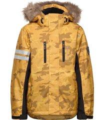 camo jacket outerwear snow/ski clothing snow/ski jacket gul lindberg sweden