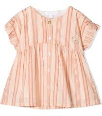 chloé neutral cotton dress
