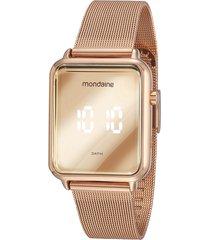 relógio digital mondaine feminino - 32171lpmvre2 rosê