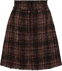 dolce & gabbana tweed mini-skirt