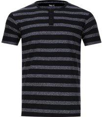 camiseta descanso a rayas color negro, talla l