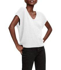 michael stars draya v-neck t-shirt, size medium in white at nordstrom