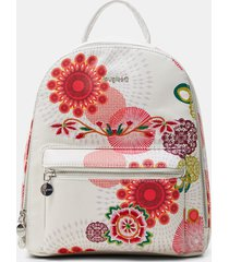 mini-backpack rounded silhouette - white - u