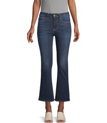 frame denim women's cropped bootcut jeans - side winder - size 23 (00)