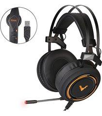 audífono diadema gamer profesional usb 7.1 wesdar gh2 - negro