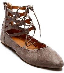 baletas color gris, talla 35