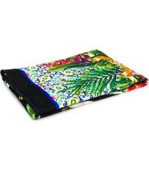 dolce & gabbana toalha de praia com estampa de zebra - preto