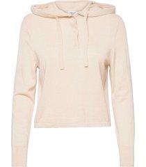 chiara knitted hoodie sweat-shirt tröja beige filippa k