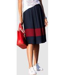 plisserad kjol alba moda marinblå::röd
