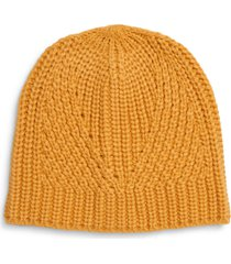 women's rebecca minkoff traveling rib beanie - yellow