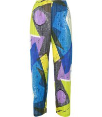 pleats please issey miyake swing trousers - multicolour