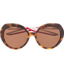 balenciaga eyewear hybrid butterfly sunglasses - brown