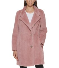 dkny petite soft-touch coat, created for macy's