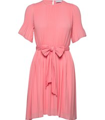 miami dress w/short sleeves jurk knielengte roze cathrine hammel