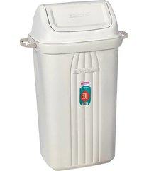 lixeira basculante sanremo, 30 litros, branco - 283