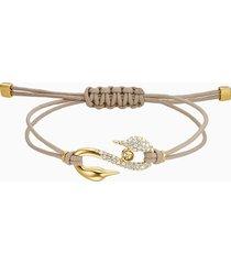 braccialetto swarovski power collection hook, beige, placcato in color oro