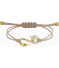 braccialetto swarovski power collection hook, beige, placcato in color oro