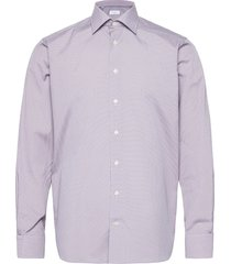 contemporary fit pink/red poplin shirt overhemd business rood eton