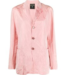 jean paul gaultier pre-owned 1990s creased straight-fit jacket - pink