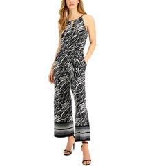 jpr studio printed cropped wide-leg jumpsuit