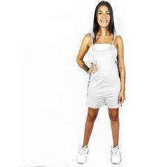 macaquinho wss brasil branco estampado - feminino