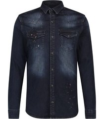 blouse denim 20010217 blauw