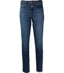 j brand high rise ruby skinny jeans - blue