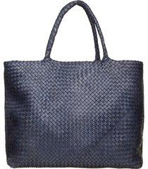 officine creative officine creative blue navy class35 braided bag
