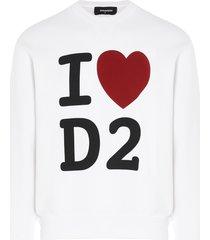 dsquared2 i love dsq sweatshirt