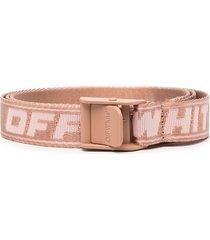 off-white mini new logo industrial belt - pink