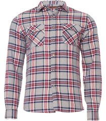 camisa masculina xadrez 2 - cinza