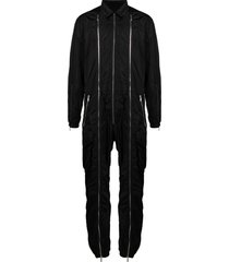 dsquared2 triple zip long-sleeved jumpsuit - black