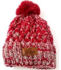gorro de lana trenzas rojo niba