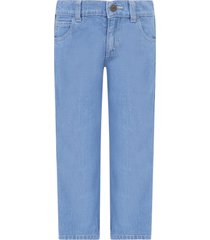 gucci light blue boy jeans with red and green web detail