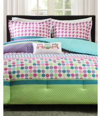 mi zone katie 4-pc. reversible full/queen comforter set bedding