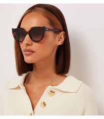 le specs women's flossy cat eye sunglasses - tort