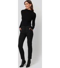 mango warm trousers - black