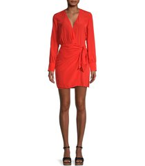 iro women's ophie wrap dress - coral flu - size 44 (12)