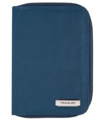 travelon rfid blocking passport zip wallet