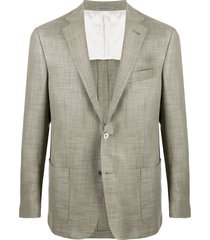 corneliani cross hatch blazer - green