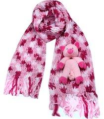 cachecol smm acessórios porquinho rosa