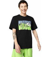 converse camiseta de manga corta rising sun black