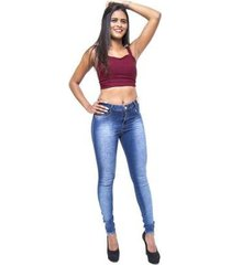 calça jeans credencial skinny hot pants tatielli feminino