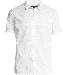 classic-fit swirl print sport shirt